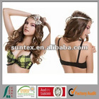 2012 hot selling new design lady's fashion nice print push up flower lace bra