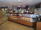 Indoor coffee and becerage bar counter design caffe retail carts