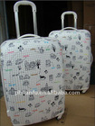"PC/ABS ITO ""pure world "" white LF8032 3 pieces TROLLEY CASE"
