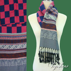 plaid fleece scarves for winter