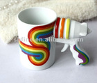 love password Creative Rainbow pistol cup