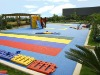 Eco friendly children playgrounds flooring