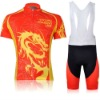 2012 MONTON Red And Yellow Dragon Sport Cycling Clothing Suit + Bib Short + COOL