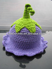 Made in China 100% soft organic Cotton Crochet baby girl hats, pixie bell hat, bell flower hat, crochet bell hat (KCC-TM00196)