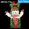 sparkling tinsel bow tie + bell light christmas Decoration (Outdoor MOQ: 200PCS, GS/CE/UL)