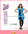 Hot selling 95%POLYESTER 5%SPANDEX with BLUE Lady's tops , Plus Size