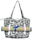Roll up Natural Straw Beach Mat & Beach Bag12-TB-028-05