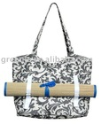 Roll up Natural Straw Beach Mat & Beach Bag12-TB-028-05