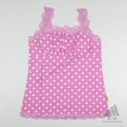 romantic pink lacework ladies singlet