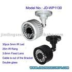 (JD-WP1130)High Quality CCD Waterproof Camera, 30pcs IR Led, 25M IR Rang,3.6mm Lens ,Double Glass