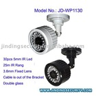 (JD-WP1130)High Quality CCD Waterproof Camera, 30pcs IR Led, 25M IR Rang,3.6mm Lens ,Double Glass