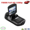 "2012 Newest 2.0"" Screen HD 1920*1080p Mini Portable Car Camcorder F8000 with 8IR for NIght Vision & 120degree wide angle"