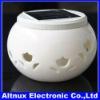 Color RGB Style Solar Ceramic flower shaper porcelain night light HG007