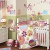 Luxury pink animal crib bedding set girl
