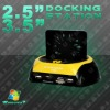 "2.5"" 3.5"" USB SATA HDD Docking Dock W/Fan Card Reader Yellow"