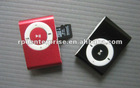 MINI Clip MP3 Player with card slot Support any Micro TF card, including data line, earplugs