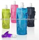 Guaranteed 100% Portable plastic foldable sport travel water bottles Multi-colors 480ml