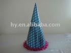 metallic paper hat