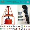 Vertical concrete tube forming machine