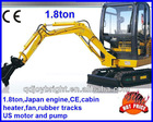 1.8ton mini digger with Japan Yanmar engine