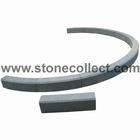grey granite kerbstone, stone palisade, garden edging stone