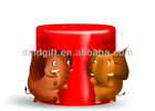 Custom design elephant plastic coin saving bank/saving box