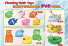 Plastic floating bath toys