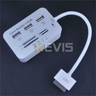 3 Ports USB HUB & 5 In 1 Camera Connection Kit Card Reader For Ipad 2 And The New Ipad 3