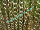 fantastic twist shape aluminum chain link curtain