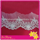 The latest design chiffon fabric flower lace trim,use for dress decoration