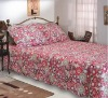 embroidery patchwork and printed bedding set