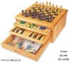 wood 10-In-1 Game Set
