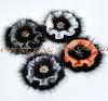 CX-A-42 Real Mink Fur Flower Coat Fashion Brooch Pin