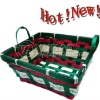 2011 Newest Handmade Natural Bamboo Christmas Tree Basket