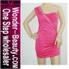 2012 Hot sale pink beaded weeding dress