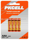 alkaline DRY CELL battery AAA size,LR03/AM-4 type