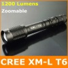 1200 Lumen CREE XML T6 Zoomable Led Flashlight / Torch