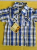 young boy 's fashion cotton woven grid shirtes