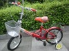 14inch red folding children bike