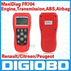 Troubleshoot and clear engine, transmission, airbag, and ABS failures for Renault/Citroen/Peugeot MaxiDiag FR704 CODE SCANNER
