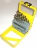 19 piece High Speed Steel Titanium Coated Drill Set