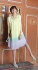 Wholesale Cheap Fashion Korean Style Contrast Color Long Sleeve Ice Cream Rainbow Pleated Dress (1207047)