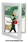 outdoor waterproof lockable poster holders w/key
