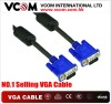 Hot selling pure copper with 2 ferrite vga cable