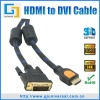 HDMI to DVI Cable, HDMI to DVI 24+1 Cable, HDMI M to DVI 24+1 M Cable, Support 1080P