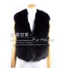 100% real fox fur vest waistcoat, high-grade whole skin fur