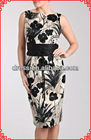 China style smart design flower printed party dress women wholesale 2012