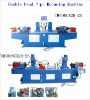 Double station pipe reducing machine