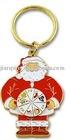 Promotional Gold Christmas Soft Enamel Keychain