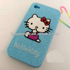 very common and popular hello kitty silicone case for iphone 4